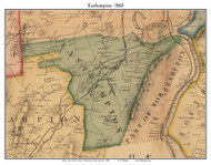Easthampton, Massachusetts 1860 Old Town Map Custom Print - Hampshire Co.