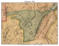 Easthampton, Massachusetts 1860 Old Town Map Custom Print - Hampshire Co.