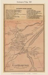 Easthampton Village, Massachusetts 1860 Old Town Map Custom Print - Hampshire Co.