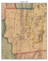 Enfield, Massachusetts 1860 Old Town Map Custom Print - Hampshire Co.