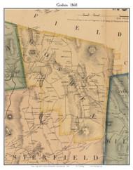 Goshen, Massachusetts 1860 Old Town Map Custom Print - Hampshire Co.