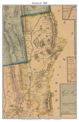 Greenwich, Massachusetts 1860 Old Town Map Custom Print - Hampshire Co.