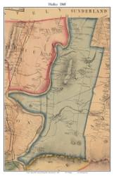 Hadley, Massachusetts 1860 Old Town Map Custom Print - Hampshire Co.