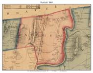 Hatfield, Massachusetts 1860 Old Town Map Custom Print - Hampshire Co.