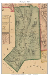 Huntington, Massachusetts 1860 Old Town Map Custom Print - Hampshire Co.