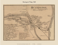 Huntington Village, Massachusetts 1860 Old Town Map Custom Print - Hampshire Co.