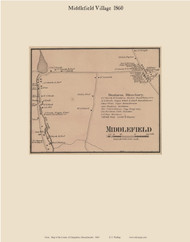Middlefield, Massachusetts 1860 Old Town Map Custom Print - Hampshire Co.