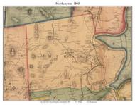 Northampton, Massachusetts 1860 Old Town Map Custom Print - Hampshire Co.
