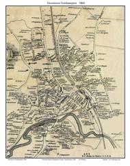 Northampton Downtown (Custom), Massachusetts 1860 Old Town Map Custom Print - Hampshire Co.