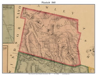 Plainfield, Massachusetts 1860 Old Town Map Custom Print - Hampshire Co.