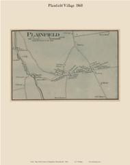 Plainfield village, Massachusetts 1860 Old Town Map Custom Print - Hampshire Co.
