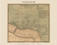 South Hadley Falls Village, Massachusetts 1860 Old Town Map Custom Print - Hampshire Co.