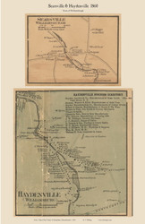 Searsville and Haydenville Villages, Massachusetts 1860 Old Town Map Custom Print - Hampshire Co.