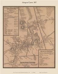 Abington Center Village, Massachusetts 1857 Old Town Map Custom Print - Plymouth Co.