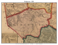 Bridgewater, Massachusetts 1857 Old Town Map Custom Print - Plymouth Co.