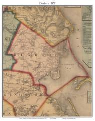 Duxbury, Massachusetts 1857 Old Town Map Custom Print - Plymouth Co.