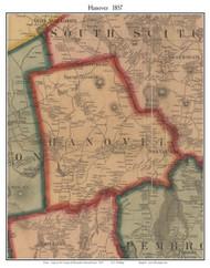 Hanover, Massachusetts 1857 Old Town Map Custom Print - Plymouth Co.
