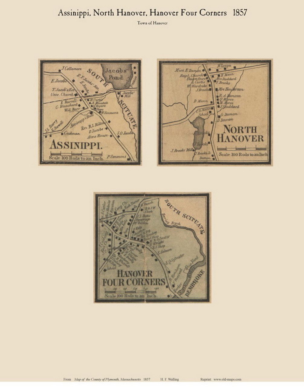North Hanover Assinipi And Hanover Four Corners Villages