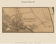 Mattapoisett Village, Massachusetts 1857 Old Town Map Custom Print - Plymouth Co.