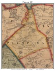 Plympton, Massachusetts 1857 Old Town Map Custom Print - Plymouth Co.