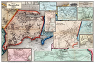 Barnstable Poster Map, 1858 Barnstable Co. MA