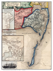 Chatham Poster Map, 1858 Barnstable Co. MA