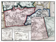 Harwich Poster Map, 1858 Barnstable Co. MA