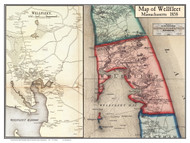 Wellfleet Poster Map, 1858 Barnstable Co. MA