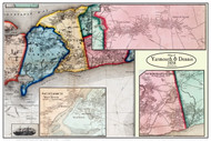 Yarmouth & Dennis Poster Map, 1858 Barnstable Co. MA