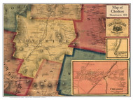 Cheshire Poster Map, 1858 Berkshire Co. MA