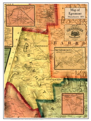 Egremont Poster Map, 1858 Berkshire Co. MA