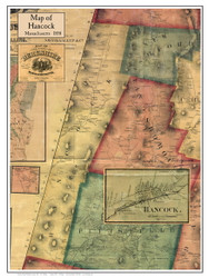 Hancock Poster Map, 1858 Berkshire Co. MA