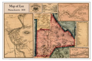 Lee Poster Map, 1858 Berkshire Co. MA
