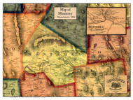 Monterey Poster Map, 1858 Berkshire Co. MA