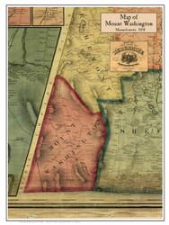 Mt. Washington Poster Map, 1858 Berkshire Co. MA