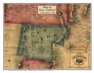 New Ashford Poster Map, 1858 Berkshire Co. MA
