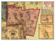 Otis Poster Map, 1858 Berkshire Co. MA