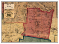 Savoy Poster Map, 1858 Berkshire Co. MA