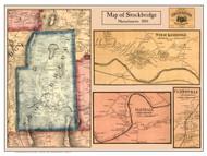 Stockbridge Poster Map, 1858 Berkshire Co. MA