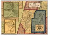 West Stockbridge Poster Map, 1858 Berkshire Co. MA