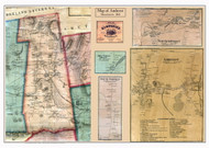 Amherst Poster Map, 1860 Hampshire Co. MA