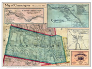 Cummington Poster Map, 1860 Hampshire Co. MA
