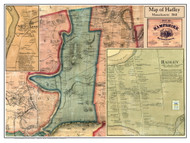 Hadley Poster Map, 1860 Hampshire Co. MA