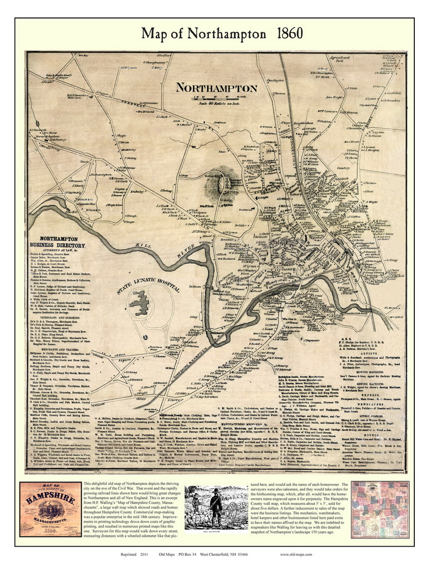 Northampton City Poster Map, 1860 Hampshire Co. MA on western ma map, sherborn ma map, florida ma map, ma on us map, ma railway map, ma world map, pittsfield ma street map, ma map with cities and towns, ma utility map, town of plymouth ma map, ma island map, new marlborough ma map, ma elevation map, ma transit map, ma county map, towns in ma map, ma region map, town of harvard ma map, lowell ma map, ma state map,