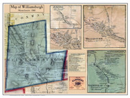 Williamsburg Poster Map, 1860 Hampshire Co. MA