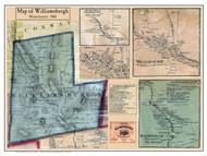 Williamsburg Poster Map, 1860 Hampshire Co. MA