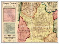 Groton Poster Map, 1856 Middlesex Co. MA