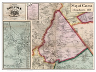 Canton Poster Map, 1858 Norfolk Co. MA