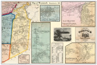 Weymouth Poster Map, 1858 Norfolk Co. MA
