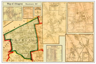 Abington Poster Map, 1857 Plymouth Co. MA